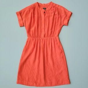 J. Crew Orange Shirtdress